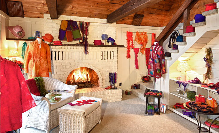 Ulrieke Benner's studio on Salt Spring Island